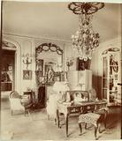 """Parisian interiors,""""Interior of Mademoiselle Cécile Sorel member of the Comédie-Française, 99 avenue des …"""""""