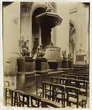 The pulpit of the choir, Saint-Gervais-Saint-Protais church, 4th arrondissement, Paris