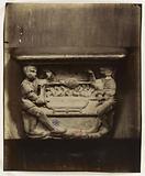 Bas-relief of Mercy, Two rotisseurs turning a spit, Saint-Gervais-Saint-Protais church, 4th arrondissement, Paris