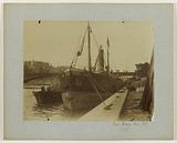 Port de la Mer (current port of the Louvre), barge, the Seine, former Pont des Saints-Pères (destroyed, current Pont …)