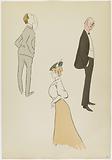 Monte Carlo Album: Lord Howard of Walden, unidentified male character, Mrs Chapman