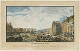 Interior view of Paris, Representing the wheat harbor from the end of the old Calf Market to the Pont Notre-Dame