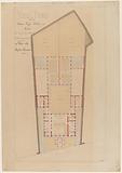 Draft School and Asylum Rue Fessart Former Belleville XIX arrondissement Ground Floor Plan