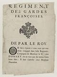 Regiment of Guards. Francoises. By the Roy.