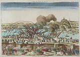 View of the city of Lyon – Siege of Lyon in October 1793