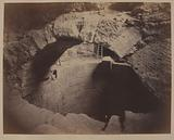 View of the cistern, Venus de Milo gallery, Louvre palace, excavation of 1883, 1st arrondissement, Paris