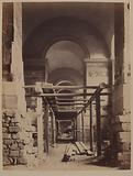 Perspective of the Venus de Milo gallery, subdivisions, relief arch on the side of the cistern, Louvre Palace, …
