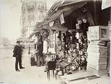 Second-hand dealer, corner of rue de la Bûcherie and rue Lagrange, 5th arrondissement, Paris