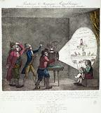 Republican Magic Lantern shown to Sire Georges Dandin and to Mister Pitt his fairy Minister