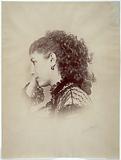 Portrait of Sarah Bernhardt, actress