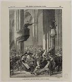 At last picture of the paris commune: at club in at church
