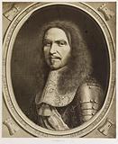 Portrait of Turenne (Henri de la Tour d'Auvergne), after an engraving by Nanteuil and a drawing by Pingebat