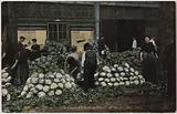 1661. Paris. Les Halles from 6 am to 8 am. The tile. Cauliflowers.