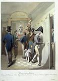 Paris painting. Cabinet d'Aisance, Palais Royal, French Theater, Office, Madame, various Characteurs.