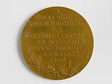 Medal bearing the effigy of Molière, offered to Jules Coüet, deputy librarian of the Comédie française, 1901