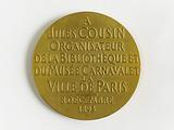 Medal offered to Jules Cousin, French collector and librarian, 1893