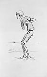 Le Grand Monde à l'Envers album: Mrs Brighton on a beach in a bathing suit