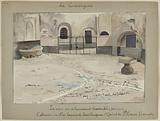 [The prisons of Paris] La Conciergerie; The courtyard where the noble ladies were