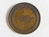 Rescue medal offered by Louis XVI to Claude Lauverjat, citizen of Brest, on 17 February 1792