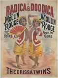 Radica & Doodica at the Moulin. Red. The Orissa Twins at the Mill. Red.