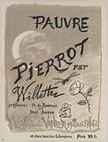 Poor. Pierrot by. Willette prefaces: Théâtre de Banville et. Paul Arene.