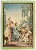 The three daughters of the composer Royer, 1760