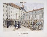 The Bicêtre prison in Gentilly: the sermon before the departure of the convict chain