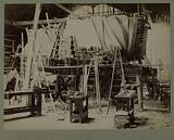 "Construction of the statue of ""Liberty enlightening the world"", Bartholdi's workshop, 25 rue de Chazelles, 17th …"