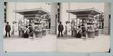 """1900 Universal Exhibition: kiosk for the sale of the official general catalog of the exhibition, the """"Guide Lemercier"""""""