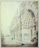 View of the northern flank of Notre-Dame in 1831. 4th arrondissement.