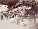 Madame Huvey's butcher's shop, at the Halles market, Baltard pavilion, 1st arrondissement, Paris