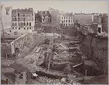 Arènes de Lutèce, excavations 1870, overview, 5th arrondissement, Paris