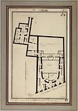 Plan of the ground floor of the theatre of the Comédie Française (street of the old Comédie Française, now 6th …)
