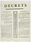 Decrees. Decree of the National Convention, 17 February 1793, the 2nd year of the French Republic.