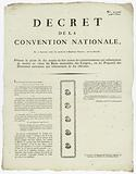 Decree of the National Convention, 11 September 1793, the second year of the French Republic, one and indivisible, …