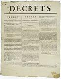 Decrees. Decree of the National Convention, 27 March 1793, the second year of the French Republic.