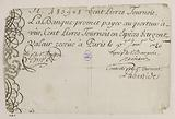 Banknote of 100 pounds tournaments, Bank of Law, n°483928, 1 January 1720