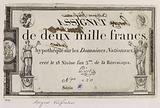 Assignat auditor of 2000 francs, series 2. , n°420. 18 nivôse year 3.