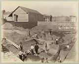 Arènes de Lutèce, rue des Arènes. View of the trenches from the terrace. 17 April 1883, 5th arrondissement, Paris.