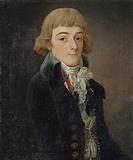 Presumed portrait of Louis-Antoine de Saint-Just, conventional