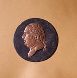 Portrait of Louis XVIII: draft medal