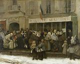 Municipal canteen during the siege of Paris