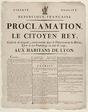 Freedom. Equality. French Republic. Proclamation.