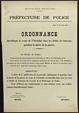 French Republic. Police Department. Paris, 15 August 1914.