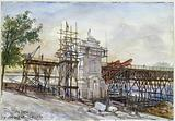 Work on the metro and the viaduct, Pont d'Austerlitz, 1904; 5th district