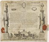 Diploma of winner of the Bastille given to citizen François Gaindon by the President of the National Assembly, of the …