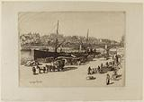 Quays of the Louvre and Voltaire, port Saint-Nicolas (current port of the Louvre), pont du Carrousel, 1st and 6th …