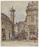 Rue de Viarmes, the Bourse de Commerce, the astrological column, views from the Allee Cendras. 1st district.