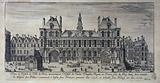 View of the Hostel de Ville de Paris, formerly the Hostel of Charles Dauphin Regent in France son of Roy Iean, then …