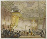 Ardent chapel of King Louis XVIII in the throne room of the Tuileries